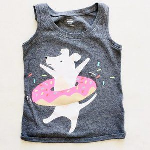 Dancing Donut Puppy Tank Top